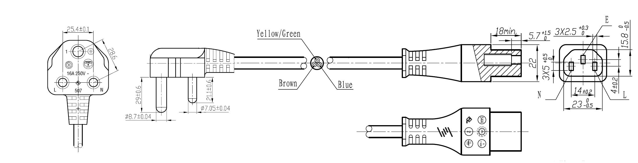 india power cords mega electronics inc rh megaelectronics com usb power cord diagram power cable diagram
